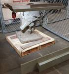 "Huge and heavy (1200 LBS.) is this J.A Fay & Egan  38"" X 45"" X 16"" diameter blade 440 V/ 3 phase cast iron & steel table saw."