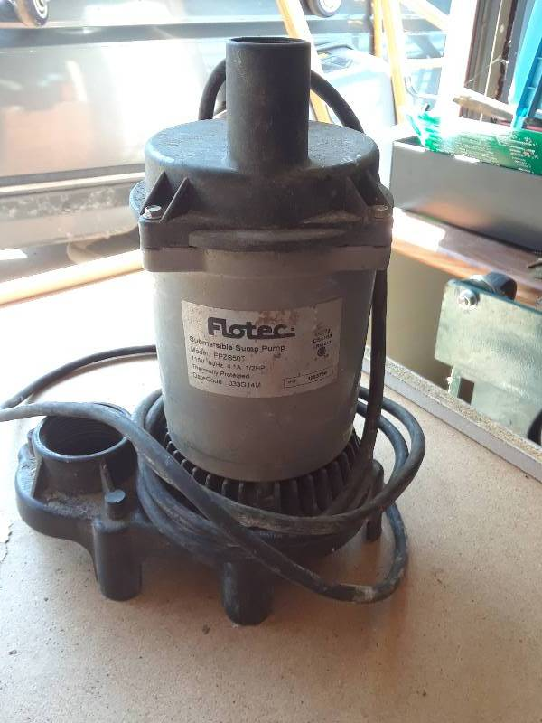 Flotec sump pump | New auction house in Independence