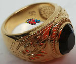 Beautiful hand crafted Beautiful Size 6 GoldGods Aura Gold & Black Onyx Man's Ring
