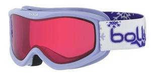 NEW! Bolle 21521 Amp Junior Snow / Skiing Goggles Purple Snow Vermilion Lens goggles
