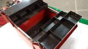Handy and not used much is this vintage Craftsman Red tool box