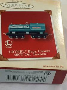 Hallmark Lionel Blue Comet Oil Tender ornament