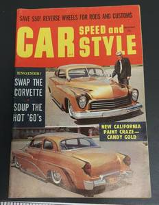 "December 1959 Car Speed and Style 5X8"" hot rod car magazine"