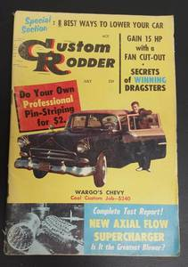 "July 1957 Custom Rodder 5X8"" hot rod car magazine"