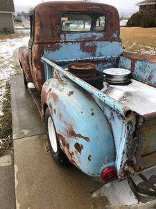 Great start on a Summer Time project truck 1953 Chevy pick up truck