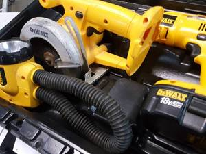 Looks close to complete is this DeWalt DW959KS-2 18 volt tool kit