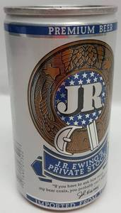 JR Ewing's Private Stock Beer Can full