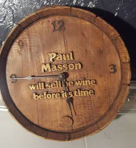 Paul Masso Wine Barrel Clock