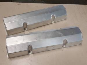 New pair of 1959 thru 1986 S/B Chevy fabricated aluminum