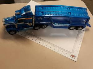 Buddy L Blue Big Brute Kenworth car hauler