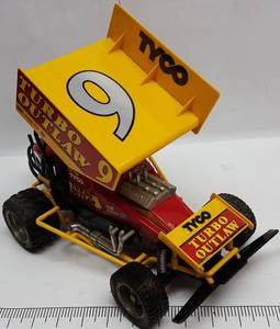 Hot dog #9 winged TYCO sprint car remote control