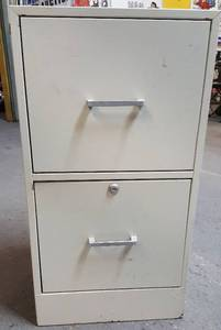 Shorty and all metal 2 drawer filing cabinet