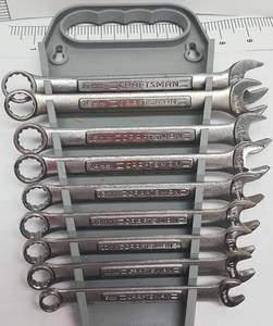 9 piece combination Craftsman 12-point box and open end Metric