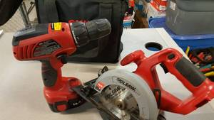 Pair of SkilSaw 14.4 volt tools