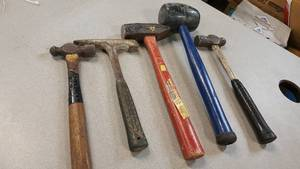 Great assortment of 5 different style hammers