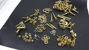 All brass plated hardware