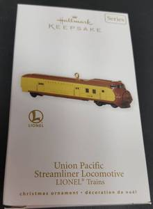 Hallmark Keepsake Christmas ornament  the Lionel Union Pacific Streamliner Locomotive
