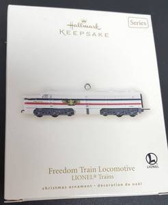 Hallmark Keepsake Christmas ornament the Lionel Freedom Train Locomotive