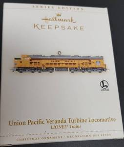 Hallmark Keepsake Christmas ornament the Lionel Union Pacific Veranda Turbine Locomotive