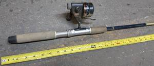 5 feet 6 inch Shakespeare rod and a Daiwa reel