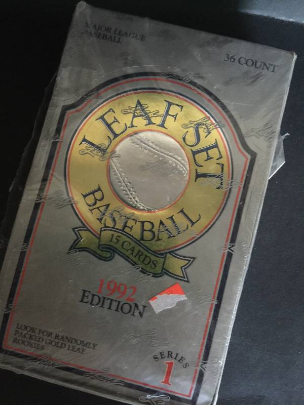 1992 Leaf Set Baseball Cards Set 1 Sealed Box Another Sale By