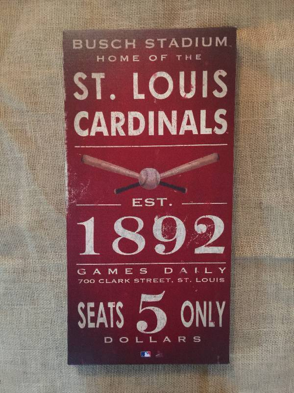 Canvas Baseball Wall Decor St Louis Cardinals Passing It On