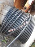 Large Spool of Communication Wire 47x34 Wooden Spool